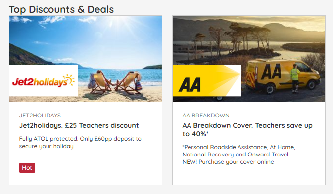 Discounts for staff 3